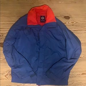 Colombia sportswear blue windbreaker